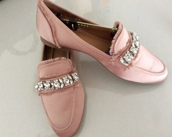 Shoes, Ballet flats with chic decor brooch women T40