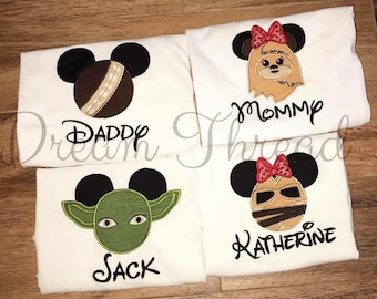 Disney Mickey & Minnie /Safari/Ariel/Buzz Lightyear/ Darth vader/ Spiderman/ Belle/Epcot/Minnie/ Mickey/ Disney family shirt (made to order)