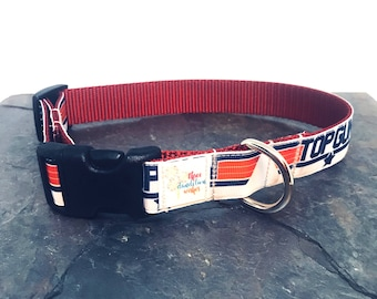 Top Gun Dog Collar, Boy Dog, Girl Dog, Custom dog Collar, Adjustable Collar, Ribbon Collar, Male Dog, Female Dog, Military, dog leash
