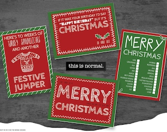 this is normal - Fun and Quirky Christmas Cards - 8 Pack