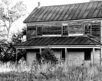 Black and White photography old farmhouse rural country digital download