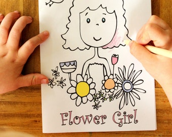 Wedding Coloring Book Flower Girl Activity book