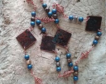 Necklaces copper wire handmade