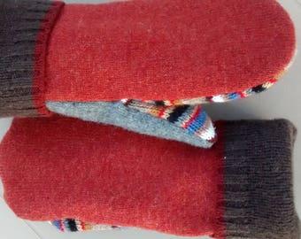 cinnamon red brown stripped wool sweater mttens