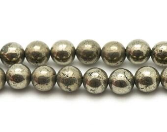 Beads - 6mm Golden Pyrite - 10pc 4558550036865 bag