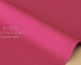 Japanese Fabric Kokochi Solid Canvas - magenta pink -  50cm