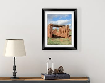 New Mexico Art - Southwest Wall Art - New Mexico Photography Prints - Southwest Decor - Architectural Print - Master Bedroom Wall Decor