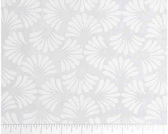 Northcott Banyan Batik White On White Batik Cotton Fabric