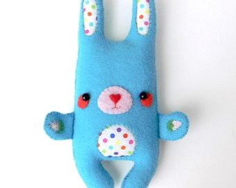 super cute handsewn felt rabbit