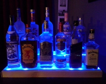 2 ft. illuminated bottle display. Handcrafted mini bar. Unpainted