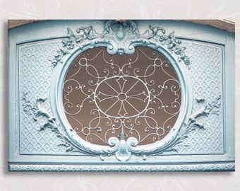 Paris Detail on Canvas, The Filigree Window, Architectural Detail Gallery Wrapped Canvas, Large Wall Art, French Home Decor