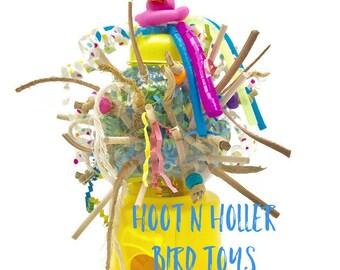 Parrot Toy, Bird Toy, Medium Bird Toy, Fun Parrot Toy, Small Bird Toy