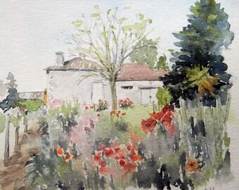 Small farm in summer