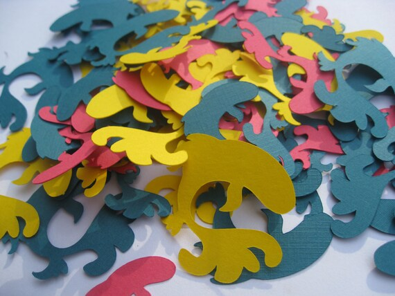500 Fish Confetti. Red, Yellow, Turquoise Blue. Or CHOOSE Your OWN COLORS. Birthdays, Weddings, Showers. Custom Orders Welcome.