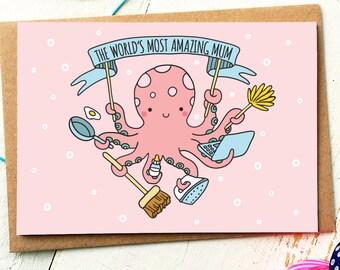 Mothers Day Card - Mum Card - Mum Birthday Card - Thank You Mum - Card For Mum - Birthday Card Mum - Mom Card - Thank You Mom - Cute Cards