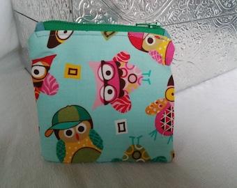 Owl Small Zippie Pouch