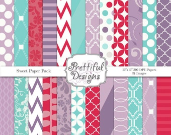 Digital Paper Pack  - Personal and Commercial Use - Sweet