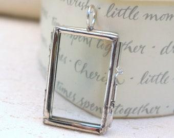 Silver frame pendant or locket