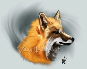 Fox 8 X 10 Giclee Print