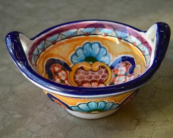 Talavera tray with handle.