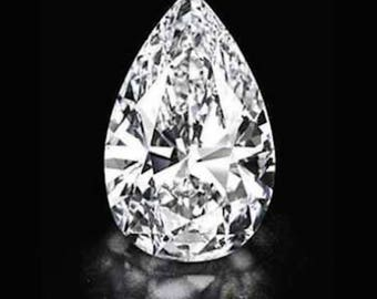 Cubic Zirconia Crystal Clear White Pear AAA Loose Stones (3x2mm - 18x13mm)