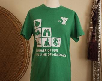 YMCA camper shirt small