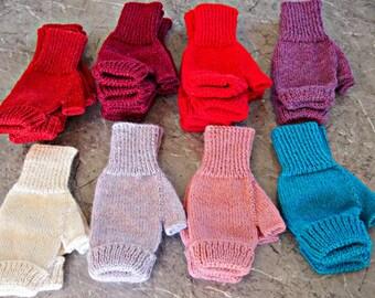 Fingerless Mitts gloves hobo - ready to ship
