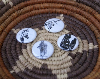 Feathers Native American Button Set
