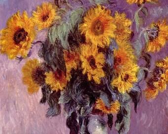 Vincent van Gogh: Sunflowers. Fine Art Print/Poster (001355)