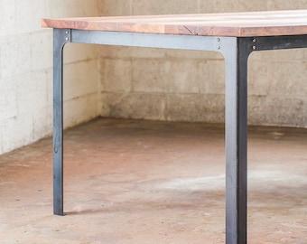 Industrial Dining Table Legs - Steel Metal Base