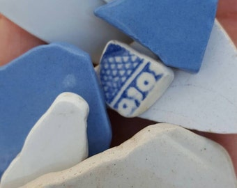 Beach pottery pieces from Ireland,crafts supplies,water tumbled pottery,beach find, #SS12