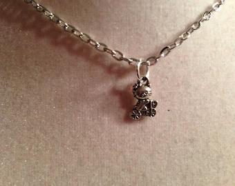 Cat Necklace - Silver Jewelry - Pendant Jewellery - Children - Girls - Chain