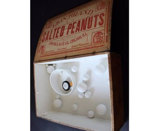 "Salted Peanuts"" Antique Wood Box Abstract Table Sculpture by David Barr"