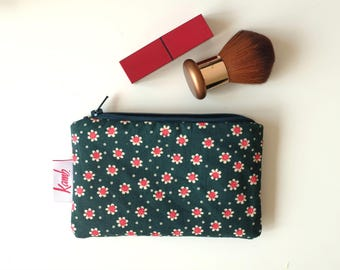 Floral Purse Small Make Up Bag Small Toiletry Bag Travel Toiletry Bag Coin Purse Lipstick Pouch Bridesmaid Gift Bag Flower Girl Gift Pouch