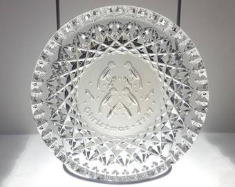 Vintage Waterford Crystal Dish/Plate - Twelve Days of Christmas - 1987 Four Calling Birds - Original Box