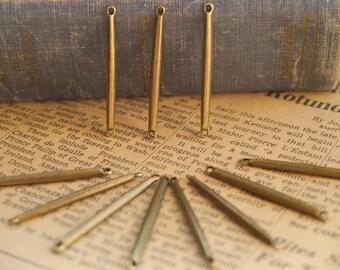 10pcs Antique Bronze Bar Connectors- Great for geometric chevron necklaces (BC806)