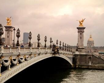 "Bridges Alexander III of Paris, France Seine River - ""Pont Alexander"" Insatant Download, Digital, Fine Art Photography, Travel Photo, E78"