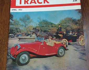 Road and Track April 1951 Racing sports car MG TD Road Test