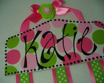 Bow holder - Boutique Style Plaque