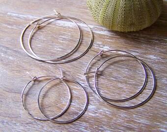 Sterling Silver Hoop Earring Set, Three different sizes, Hoop Earring Trio, Sterling Silver Hoops