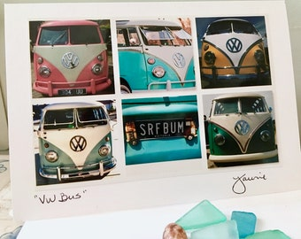 VW Bus Van Photo Card