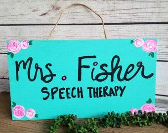 SLP Wood Sign, SLP Gift, Personalized, Teacher Gift, Classroom Sign, Classroom Decor, Gifts for Speech Therapist