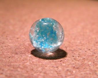 3 beads 12 mm - phorphorescente glass lampwork handmade hand-glow-turquoise-PE257-3