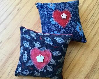 Japanese fabric pin cushions