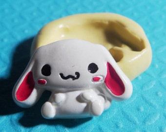 Floppy Kawaii Bunny 38mm Flexible Silicone Mold