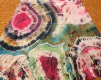 Women's Size 2 Up-cycled Tie Dye Skirt, Merona