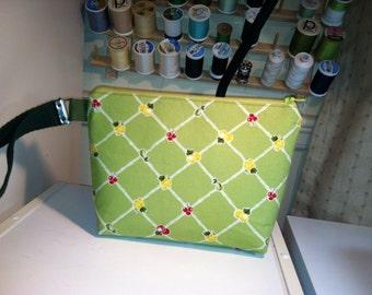 Lime Lemon and Cherries Little Bit Wristlet Bag