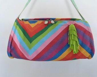 "handbag leather ""Rainbow"" collection 100% handmade"