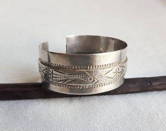 old tunisian bracelet . silver