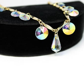 Sarah Coventry Crystal Fire Necklace, Vintage Necklaces